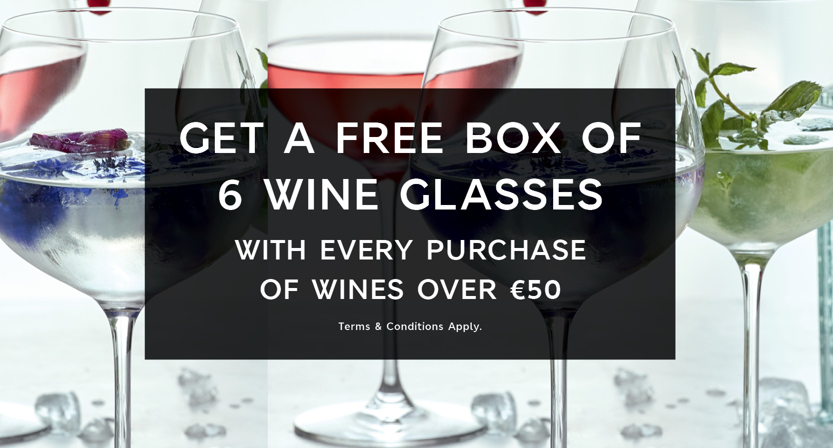 M&S Winedrop free Box Wine Glasses