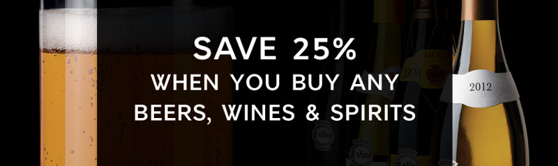 M&S WInes Spirits Beer 25% Off